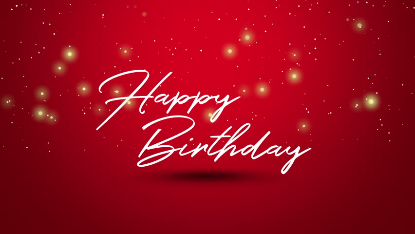 Happy Birthday Text Animated Footage Stock Footage Video 100 Royalty Free 34866982 Shutterstock