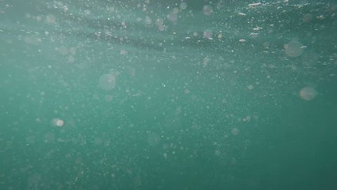small particles reflect light in water