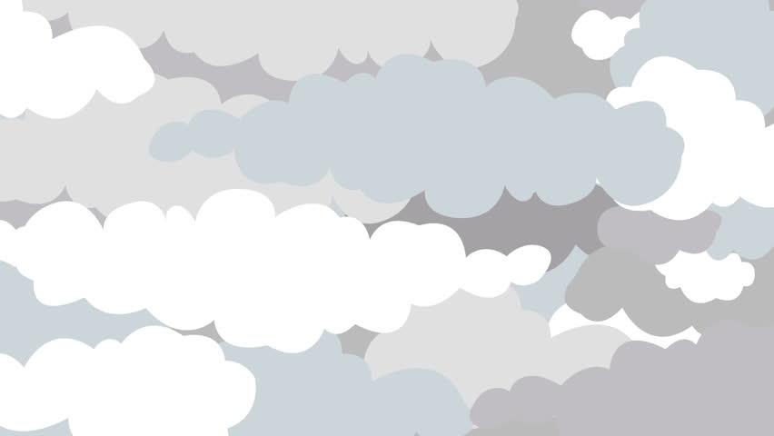 Clouds Open and Revealing Sun in Cartoon Style | Shutterstock HD Video #34894312