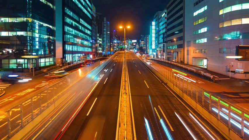 Time-lapse of a highway in Shibuya, Tokyo, Japan | Shutterstock HD Video #34896163