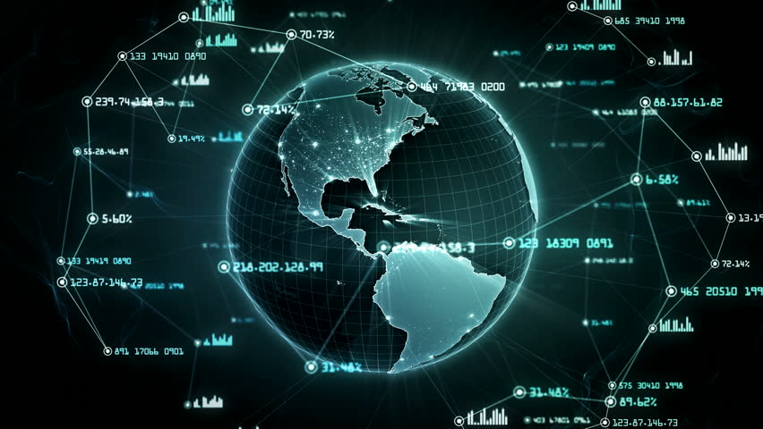 Global network connections. Connecting big data around the world. You can use it for a technology, communication or social media background. Green version. Seamless loop. 4K | Shutterstock HD Video #34901278