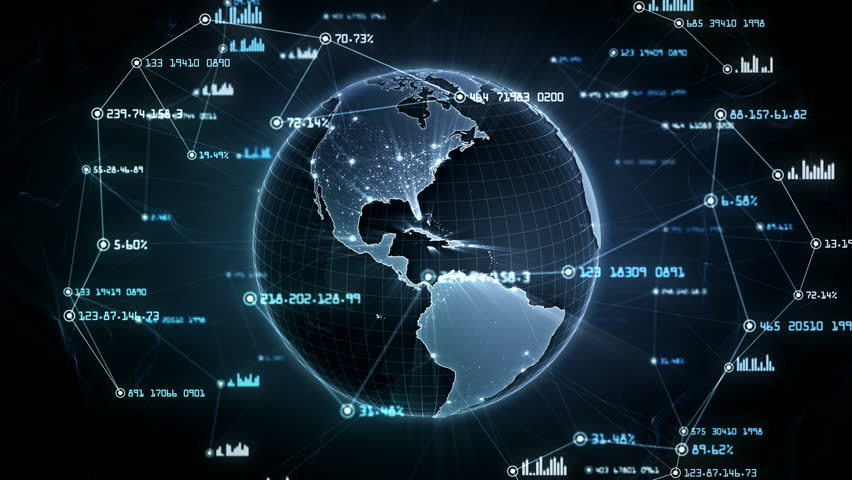 Global network connections. Connecting big data around the world. You can use it for a technology, communication or social media background. Blue version. Seamless loop. 4K | Shutterstock HD Video #34901281