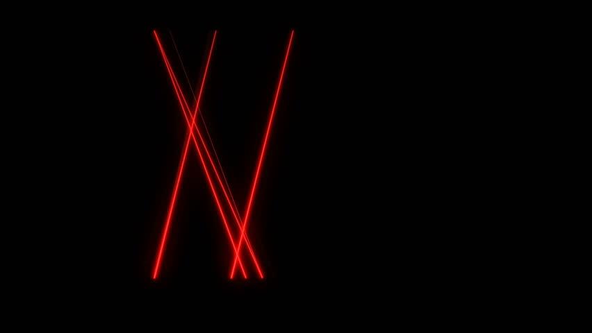 Bright red laser beams moving in black studio. Dance club lights. | Shutterstock HD Video #34915792