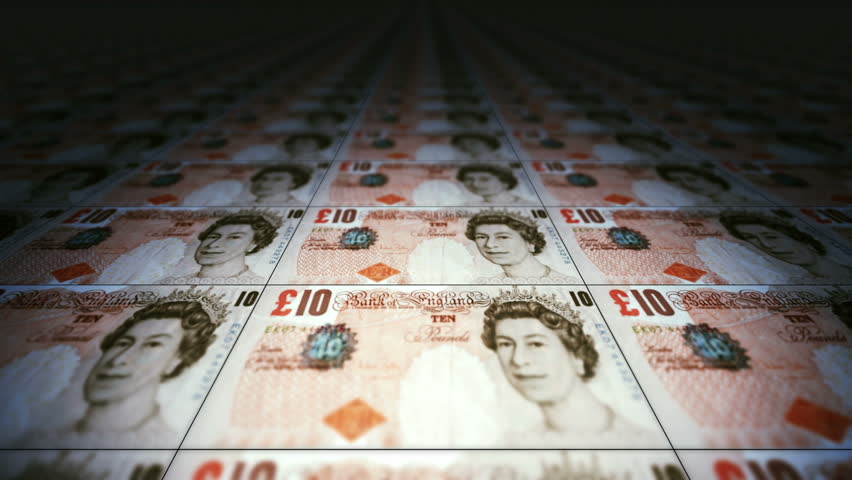 Money Background Graphics A motion Background Based On Currency (British Pound Note)