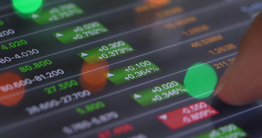Stock market data on digital tablet computer | Shutterstock HD Video #34946527