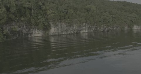 Aerial footage over Lake of the Ozarks; Day