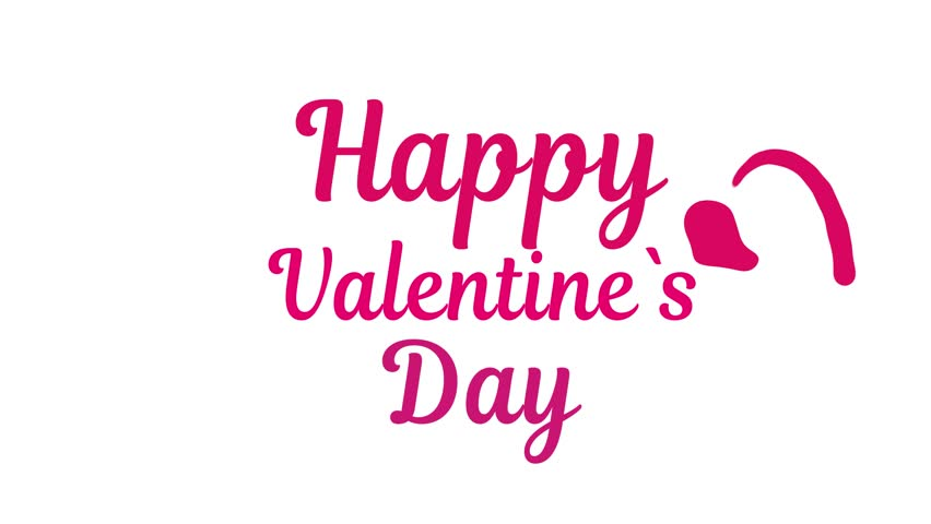 Happy valentine`s day writing text animation. Liquid Logo Animation. Valentine day gift card video. stock footage | Shutterstock HD Video #34965799