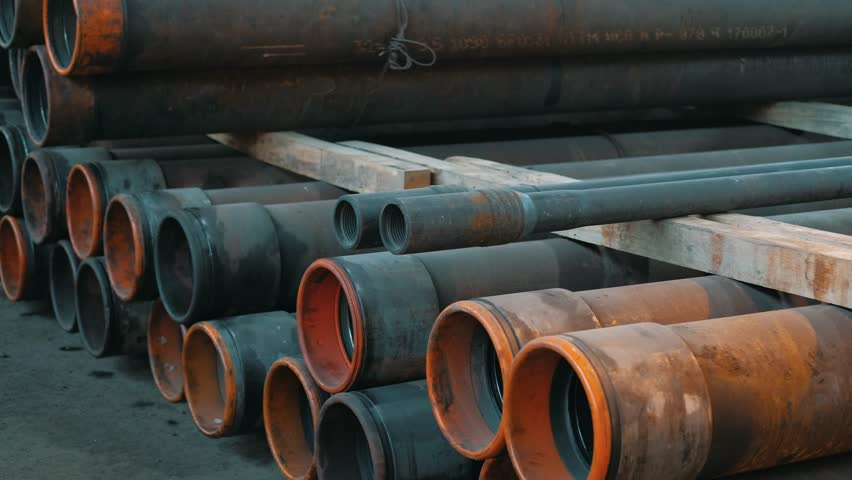 Drilling Rig for the Oil Industry Ready Tube Warehouse | Shutterstock HD Video #35004856