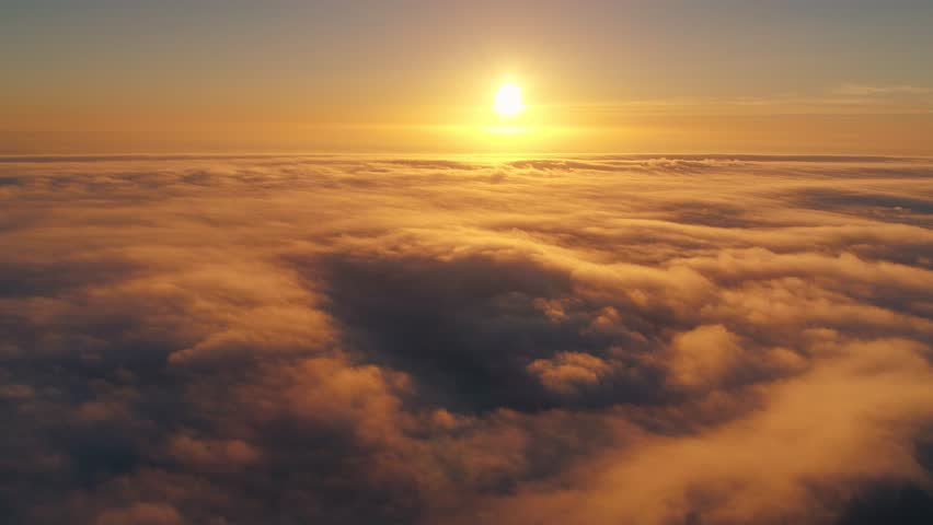 Portugal Porto aerial video Beautiful sunset on the coast above the clouds 4k awesome   Shutterstock HD Video #35010160