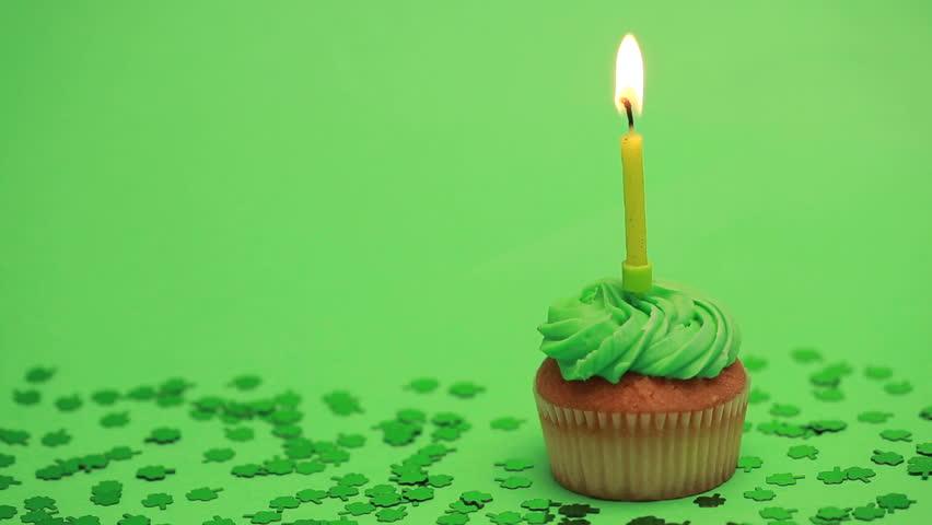 Strange St Patricks Day Cupcake With Stock Footage Video 100 Royalty Birthday Cards Printable Benkemecafe Filternl