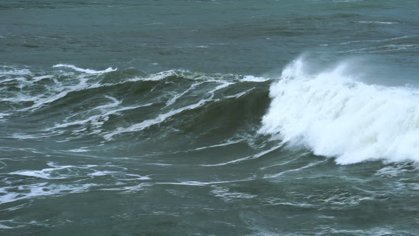 Big Waves in Islares, Cantabrian Sea, Cantabria, Spain, Europe | Shutterstock HD Video #35029681