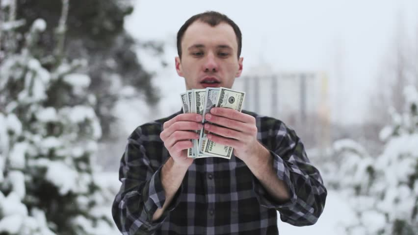 A wealthy guy counts money | Shutterstock HD Video #35038267