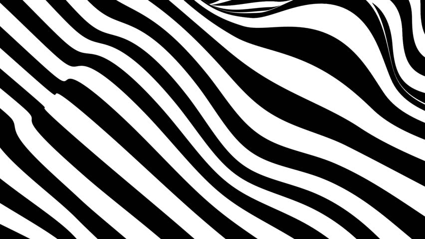 Abstract black and white striped optical illusion three dimensional geometrical wave shape pattern illustration motion graphics background | Shutterstock HD Video #35055025
