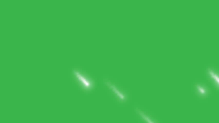 Falling stars on green screen. Christmas background.