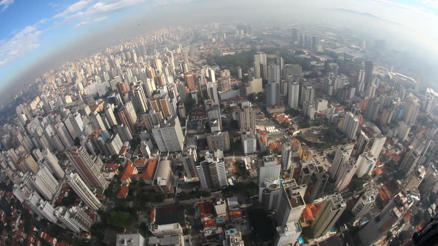Aerial view from big city | Shutterstock HD Video #3509633