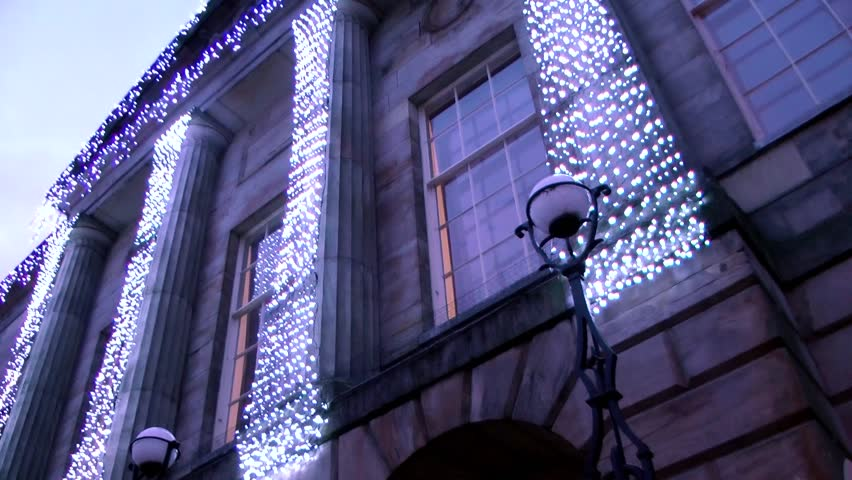 Christmas Lights on Civic Building