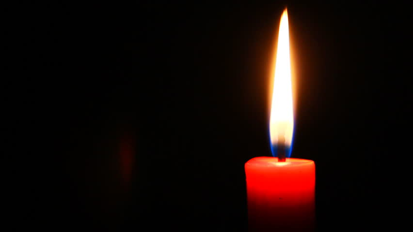lit candle video