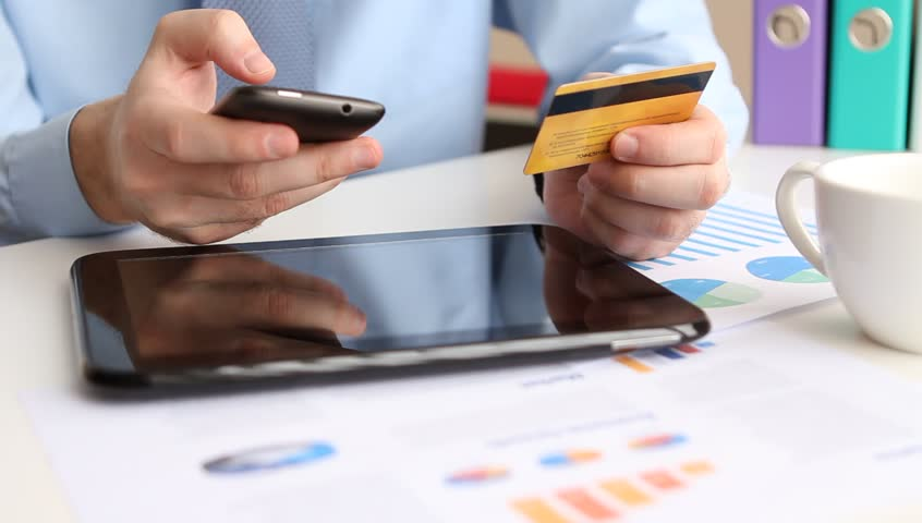 Online banking with smart phone | Shutterstock HD Video #3532790