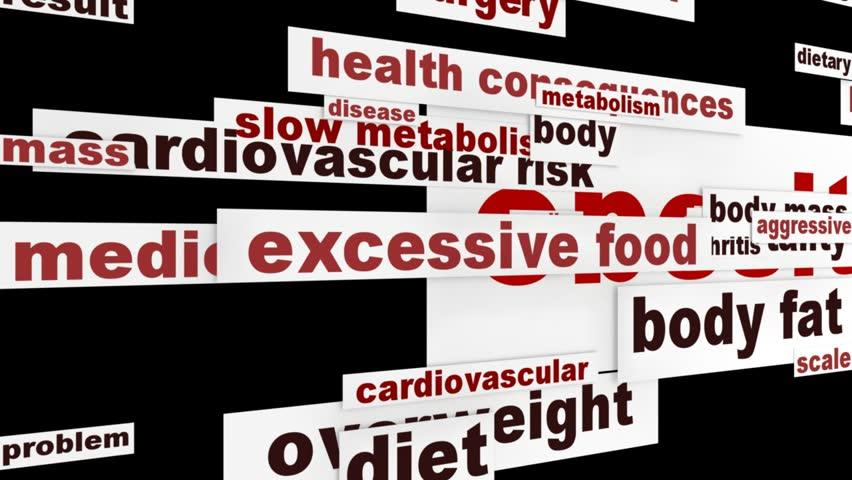 Obesity medical design. Overweight global problem message concept
