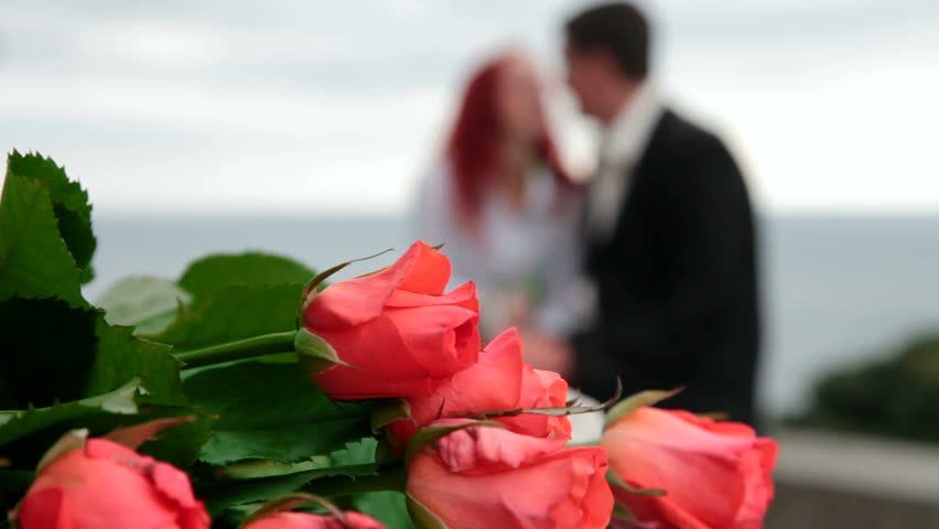 Flowers for the Date. Couple Stock Footage Video (100% Royalty-free)  3553862 | Shutterstock