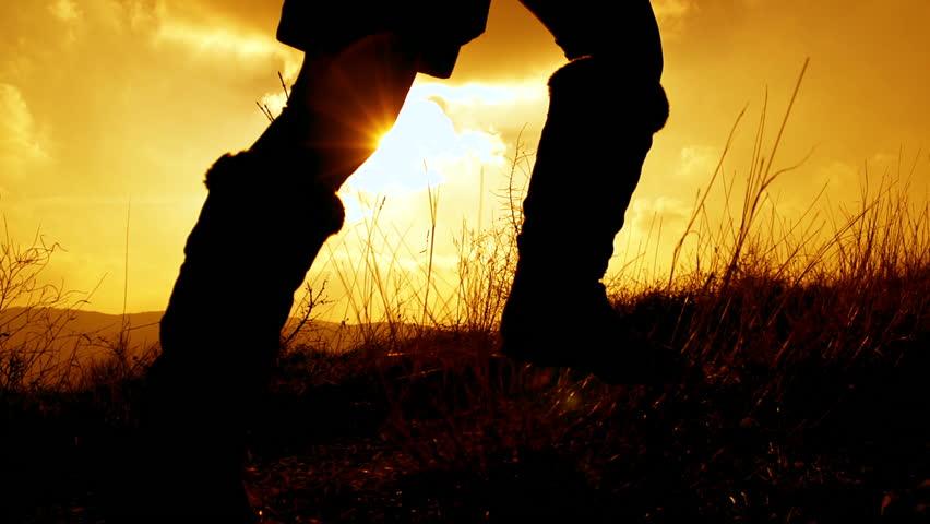 SLOW MOTION: Girl running at sunset | Shutterstock HD Video #3590273