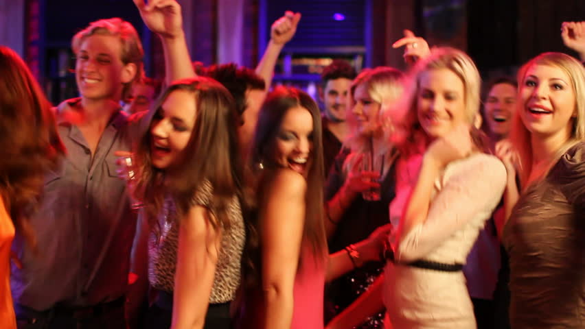 Friends Dancing At A Party, girls having a night out with some drinks