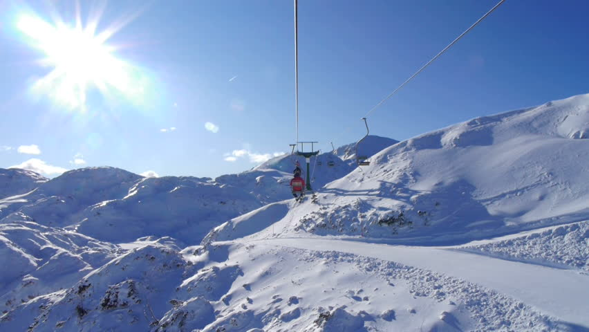Ski lift ride   Shutterstock HD Video #3599000