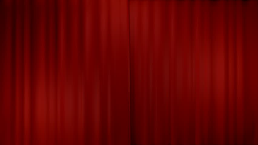 opening theater curtains, with alpha channel  #3613772