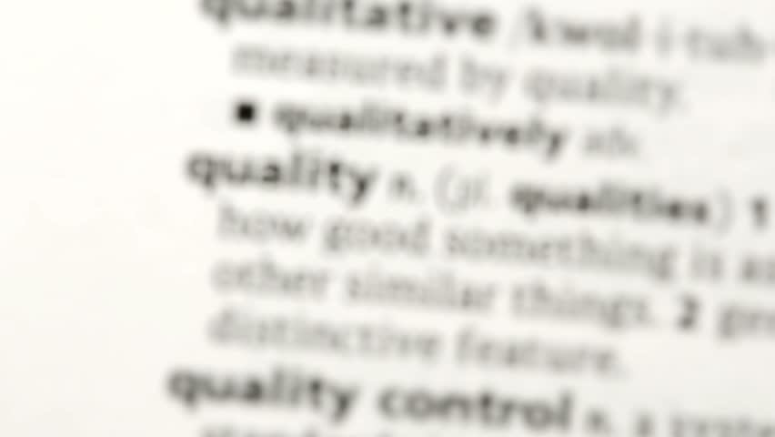 Focus on quality in the dictionary | Shutterstock HD Video #3614609