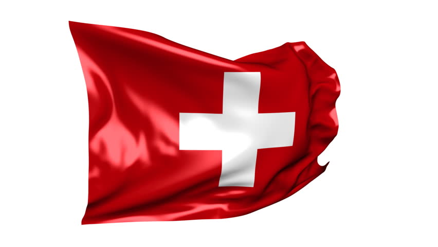 Flag of Switzerland 06B (HD) - Waving flag of Switzerland on the white background. Nice silk material, real simulation. Alpha matte for change of the white background included.