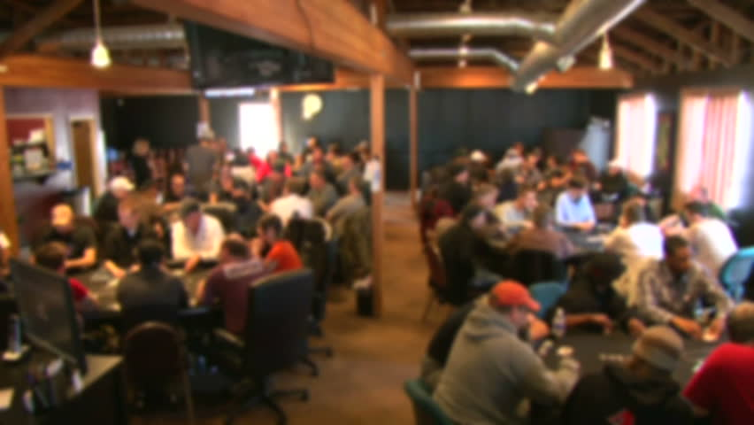 Soft focus, unrecognizable people in poker club gambling at poker card tables, time lapse. | Shutterstock HD Video #3625589