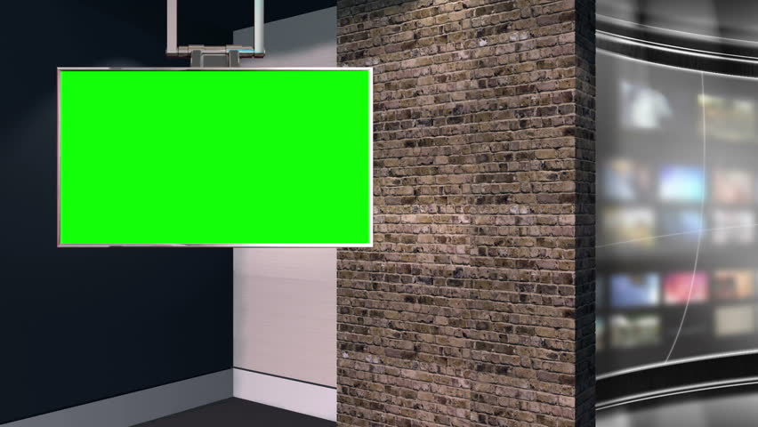 This is a virtual studio or virtual set background which can be used in green screen / Chroma key video production to place your talent / presenter into a newsroom type environment. | Shutterstock HD Video #3629747