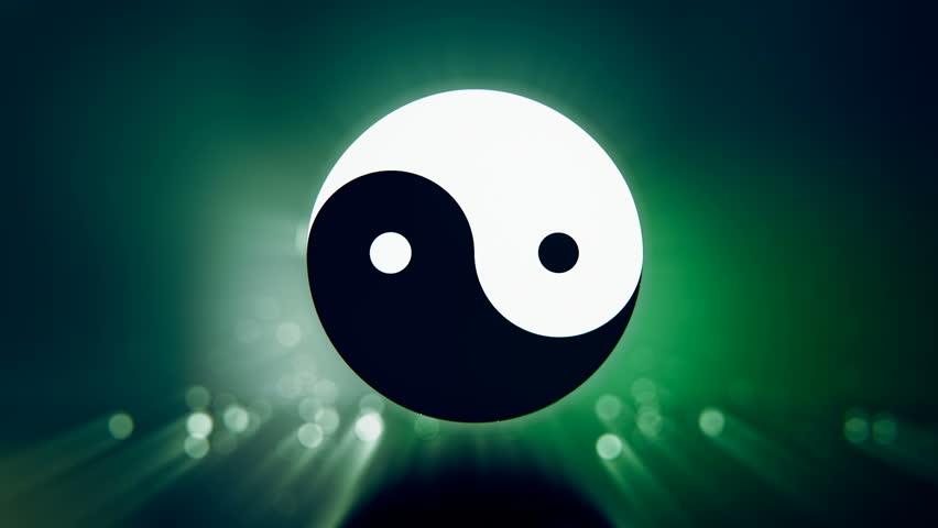yin yang symbol loopable animation stock footage video