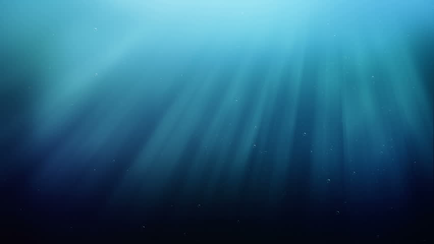 Underwater scene with air bubbles floating up and sun shining through the water. | Shutterstock HD Video #3648284