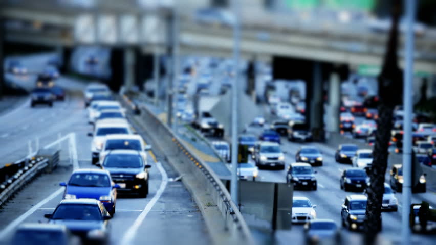 Tilt Shift Time Lapse of Highway Traffic Downtown Los Angeles Circa March 2013 | Shutterstock HD Video #3648491