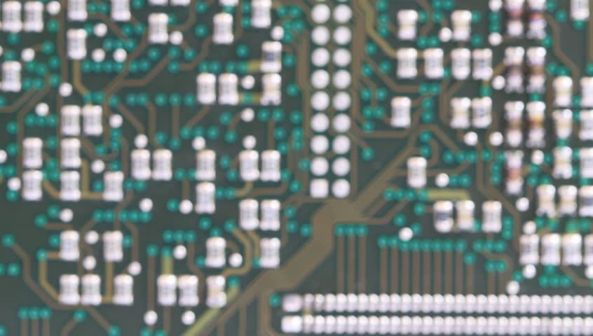 Close up of electronic electrical circuit.   Shutterstock HD Video #3648998
