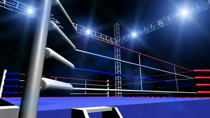 Panning Boxing Ring Lights Dark