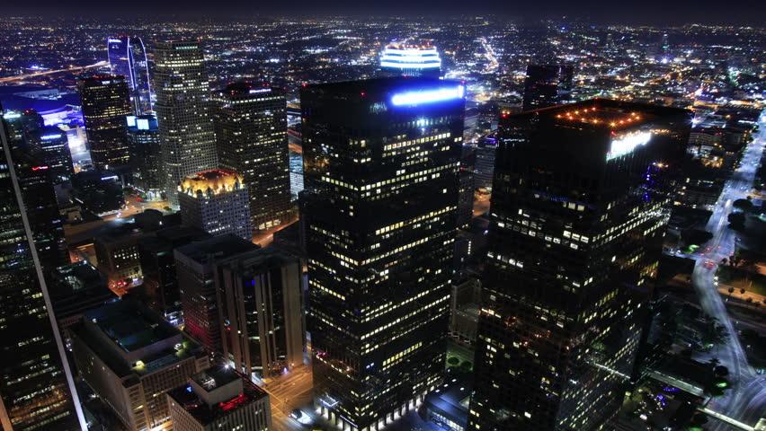Night Cityscape Timelapse 74 Los Angeles Downtown Traffic | Shutterstock HD Video #3665192