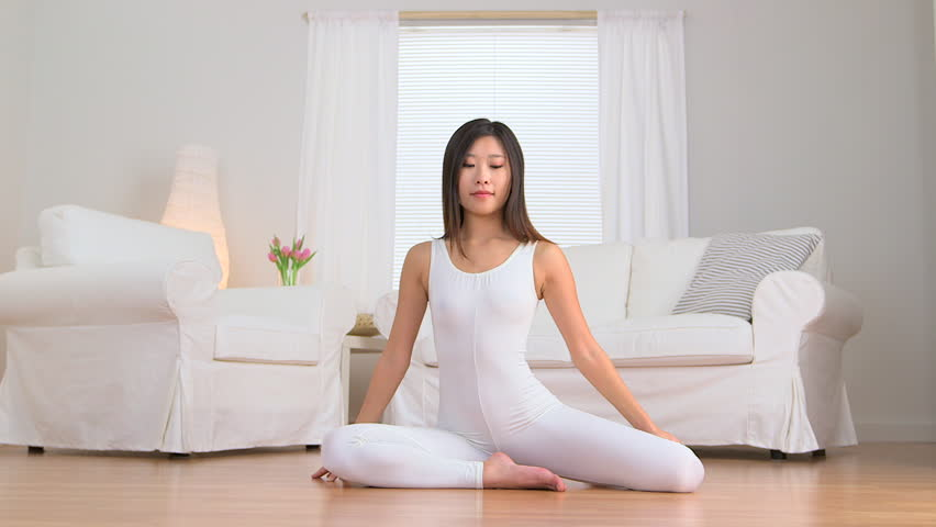 Asian Woman Doing Yoga Stock Footage Video (100% Royalty-free) 3667979 |  Shutterstock