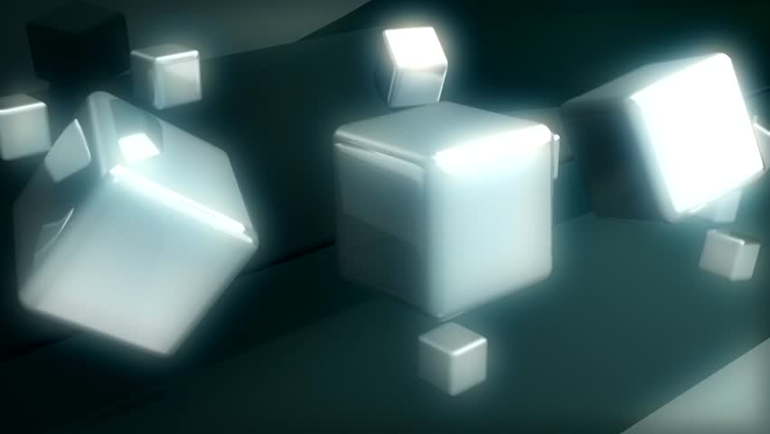 Rotating Boxes In Abstract Space | Shutterstock HD Video #3669062