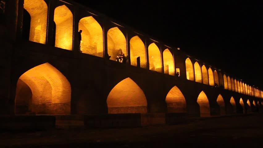 Si-o-se bridge in Isfahan, Iran