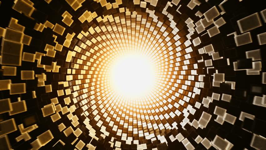 3D Hypnotic Abstract Sun Disintegrating Transition with Alpha Matte HD | Shutterstock HD Video #3691124