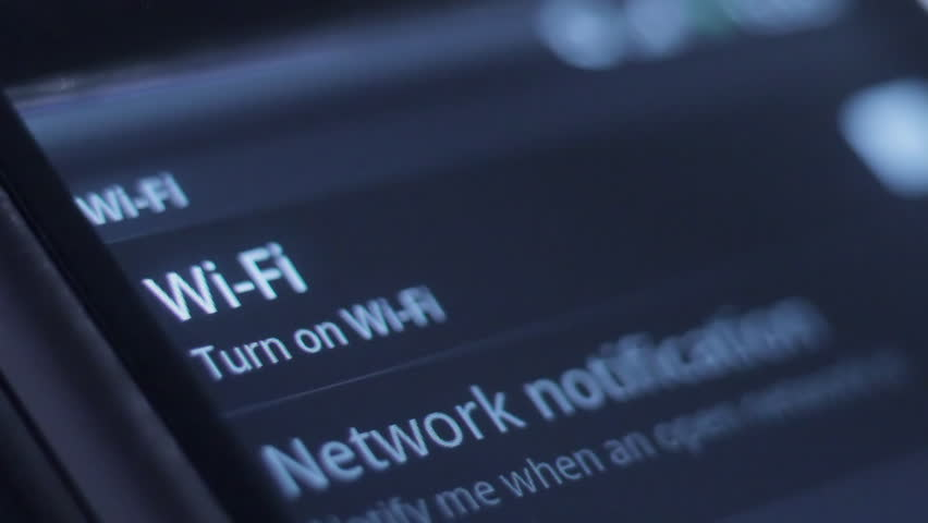 Smartphone connecting to WiFi