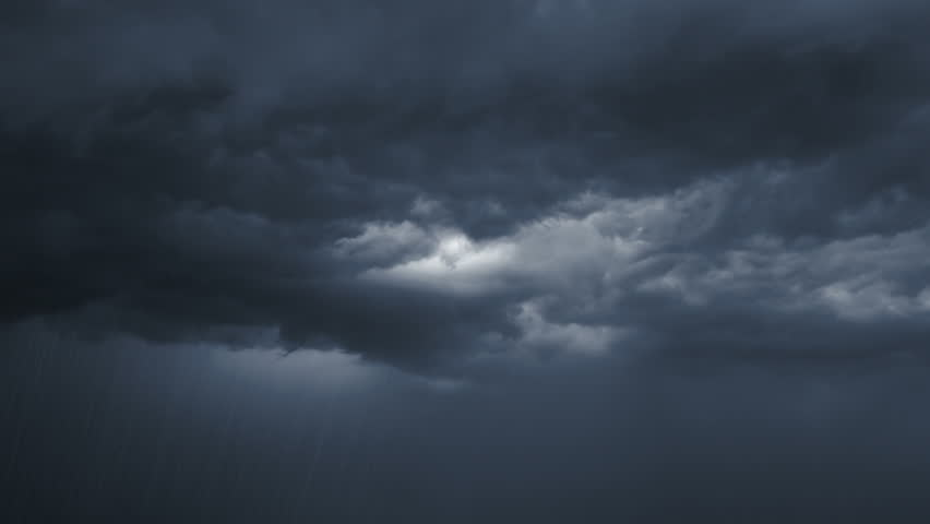 The Dark Clouds. Rain. Flashes Stock Footage Video (100% ...