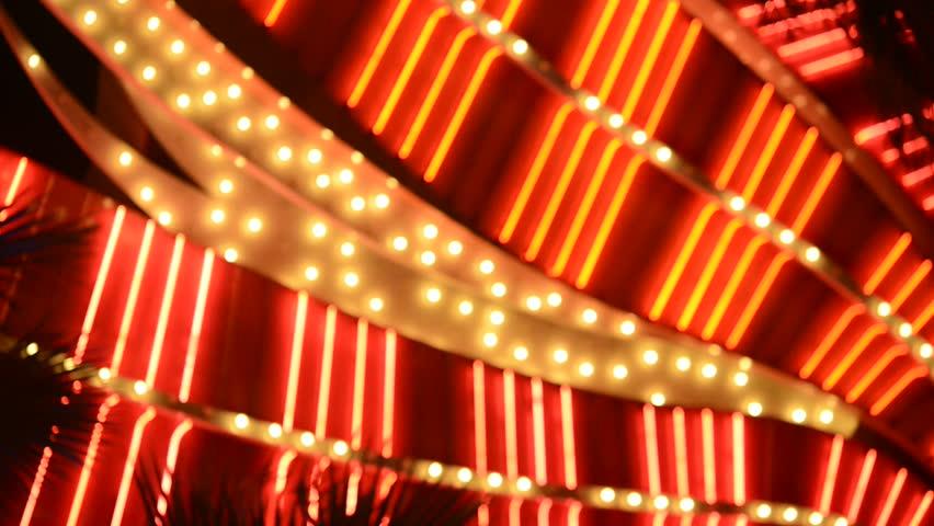 LAS VEGAS - CIRCA 2013: Las Vegas Casino Lights - Circa 2013 | Shutterstock HD Video #3719279