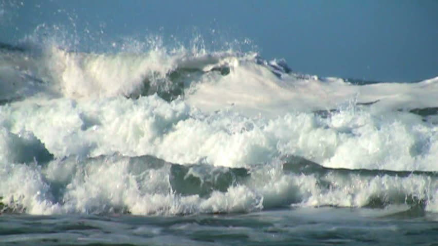 Ocean wave slow motion #3735818
