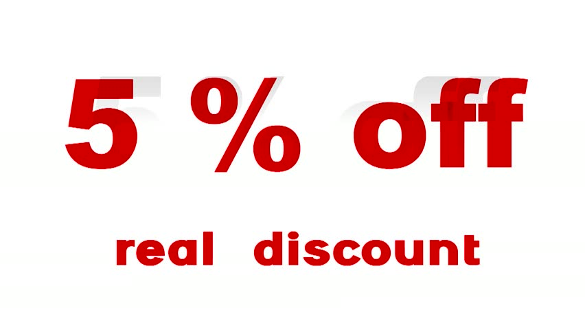 5% off - promotional sign animated | Shutterstock HD Video #3745007