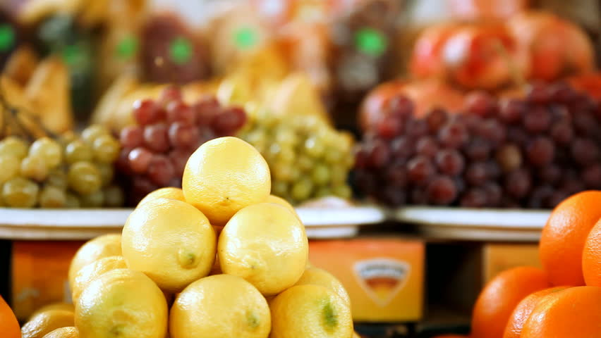 Beautiful dynamic view of healthy fruits food