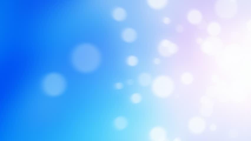 Blue bokeh circles abstract background (seamless loop)