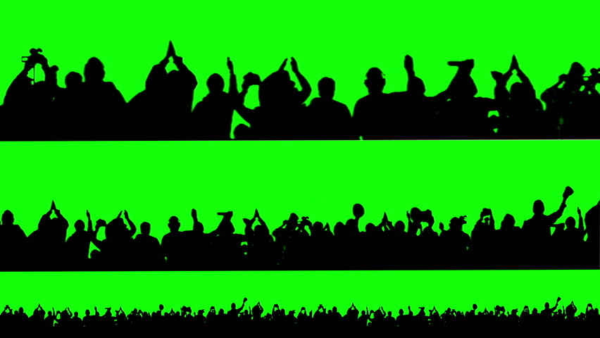 Crowd of people. Green screen. | Shutterstock HD Video #3774596